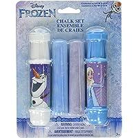 Disney Frozen Jumbo - Juego de gis de 4 piezas con 2 soportes ajustables, con Elsa y Anna