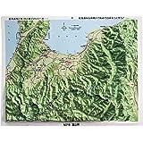 立体地図 県別レリーフマップ富山県(カラー版)