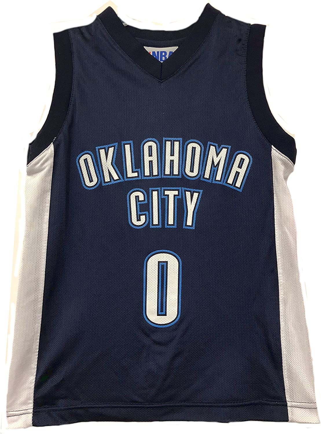 Outerstuff NBA Boys Youth 8-20 Player Name & Number Mesh Player Jersey (Youth X-Large 18-20, Oklahoma City Thunder Russell Westbrook Navy)