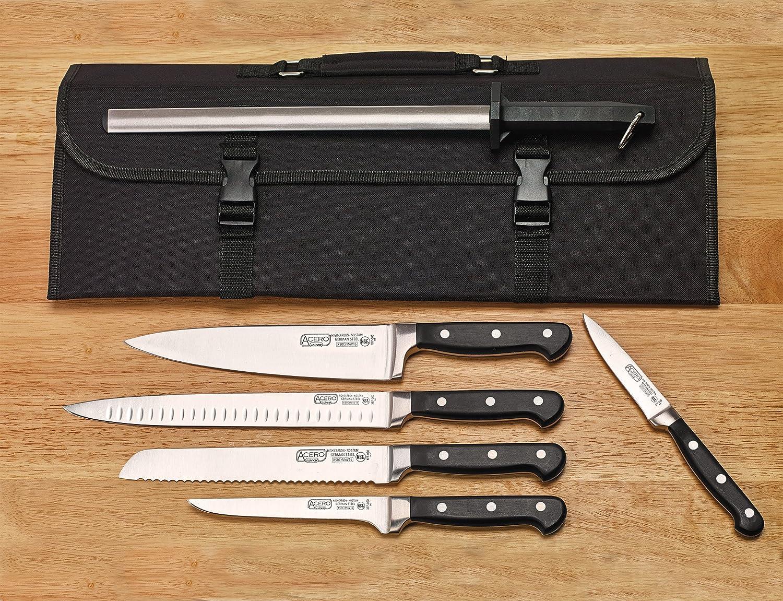 WINCO Acero Knife Set, Black/Silver