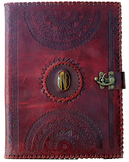 blf vintage handmade embossed leather portfolio resume pad folio cover file folder professional business organizer notepad