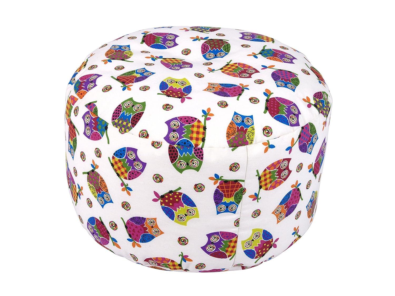 Linke Licardo 75565200036 Pouf, Durchmesser 47/34 cm, Eule-Crudo, Baumwolle