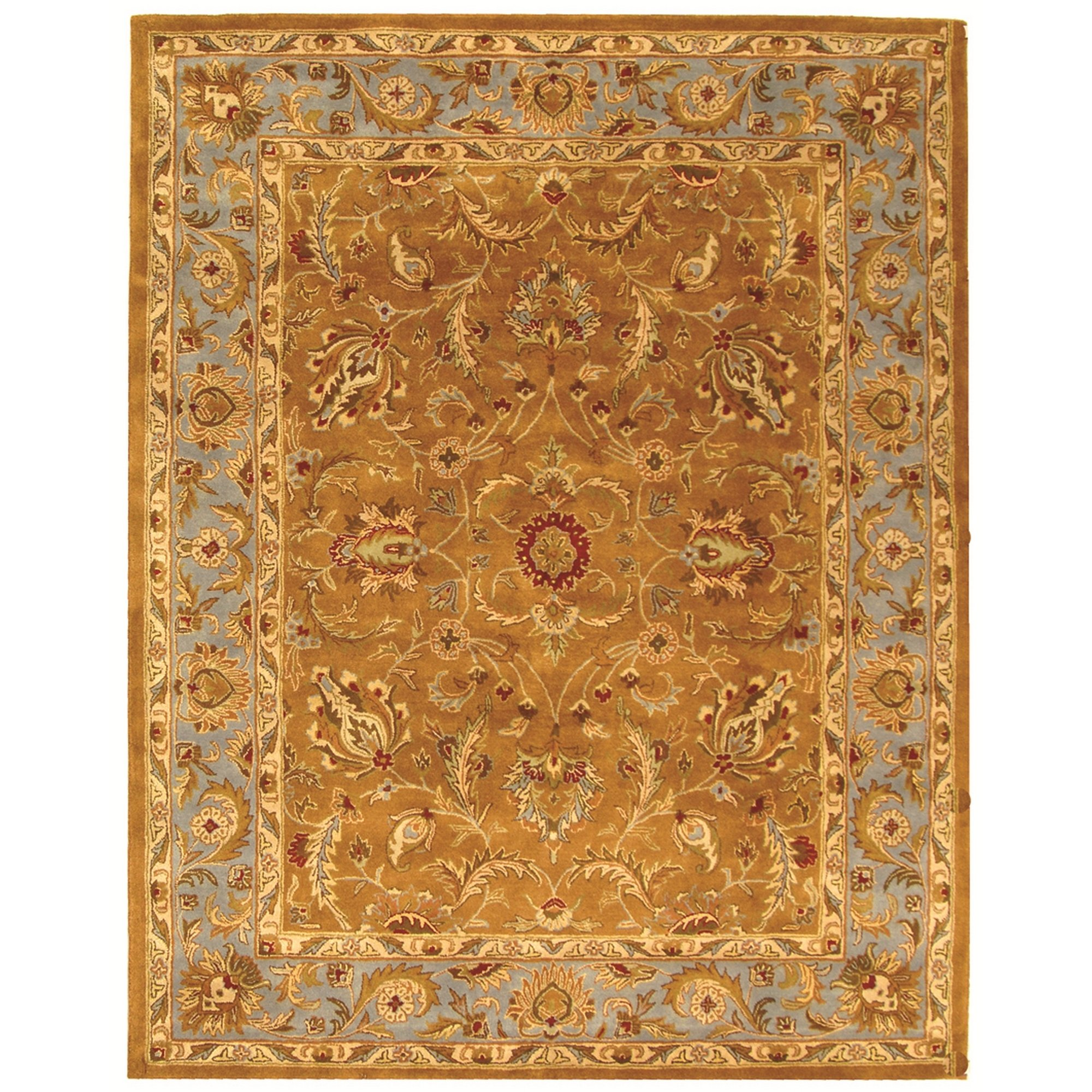Safavieh Heritage Collection HG812A Handcrafted Traditional Oriental Brown and Blue Wool Area Rug (9' x 12')