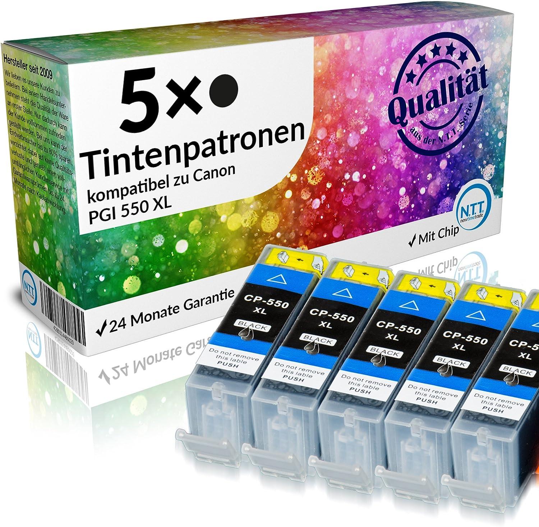 Set 5x Tintenpatrone Xxl Für Canon Pgi 550 Xl Bk Schwarz Canon Pixma Ip 7250 Ip 8750 Ix 6850 Mg 5450 Mg 5550 Mg 6350 Mg 6450 Mg 7150 Mx 725 Mx 925 Bürobedarf Schreibwaren