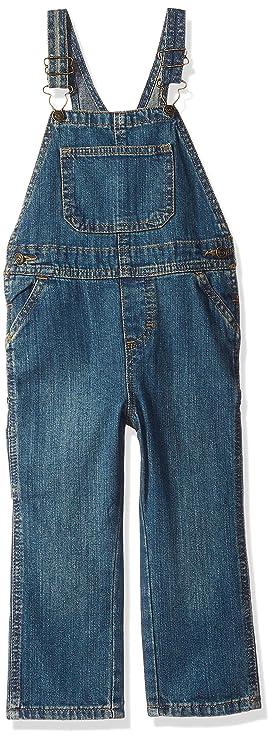 Wrangler Authentics Toddler Boys' Denim Overall, aged indigo, 4T best toddler jeans