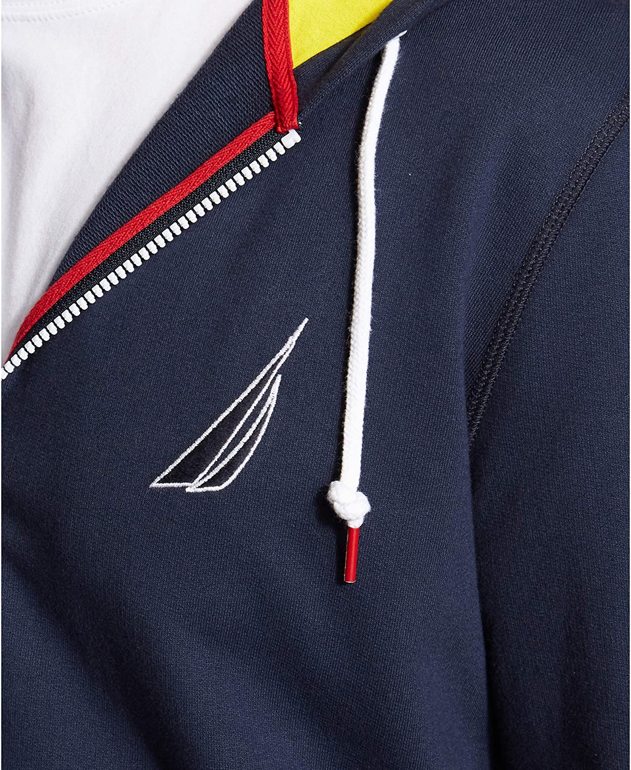 Navy Nautica Men's Full Zip Zip Zip Collegiate 100% Cotton