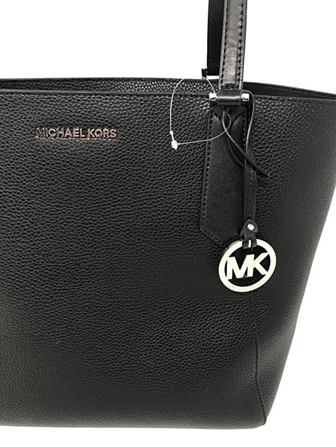 53f41aa878a3c Amazon.com  Michael Kors Kimberly LG Bonded Leather Tote Bag in Black   Clothing