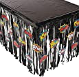 Fun Express Foil Superhero Table Skirt with Cutouts