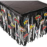 Fun Express Foil Superhero Table Skirt Table Cover With Cutouts