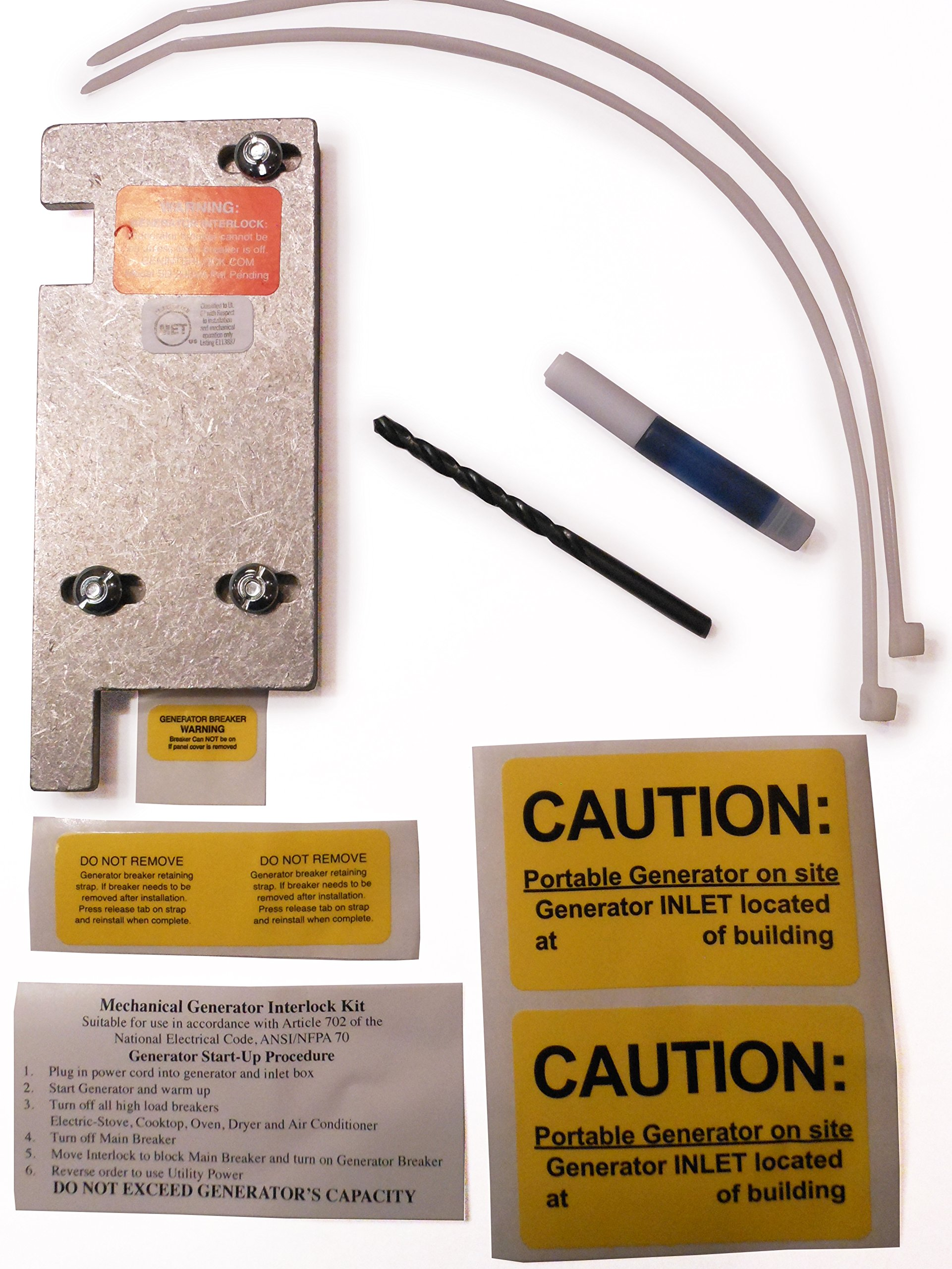 Sd 200sa Square D Generator Interlock Kit For Homeline Meter Main 200amp Circuit Breaker With 30amp 150 Or 200 Amp