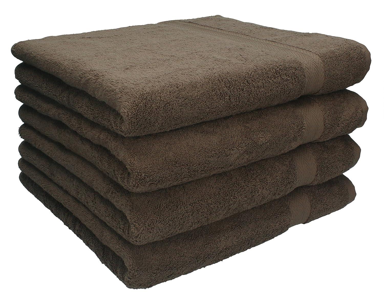 Betz 4 Piece Towels Set PREMIUM 4 Hand Towels 50x100 cm 100% Cotton color black