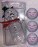 Titleist 3 Ball Pack Pro V1 Custom Logo Refinished Mint Golf Balls Christmas Packaging
