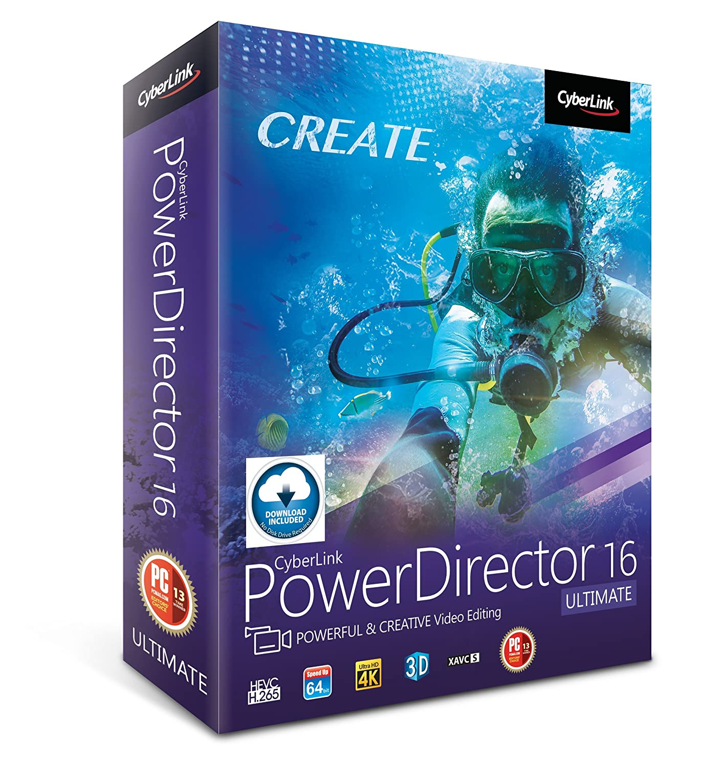 Cyberlink PowerDirector 16 Ultimate: Professional Video Editing Software