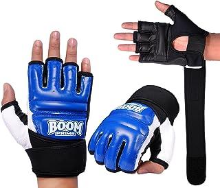 Boom Prime Cuir Bleu Corps Gel Gants MMA Gants de Sac de Frappe Arts Martiaux (Anglais)
