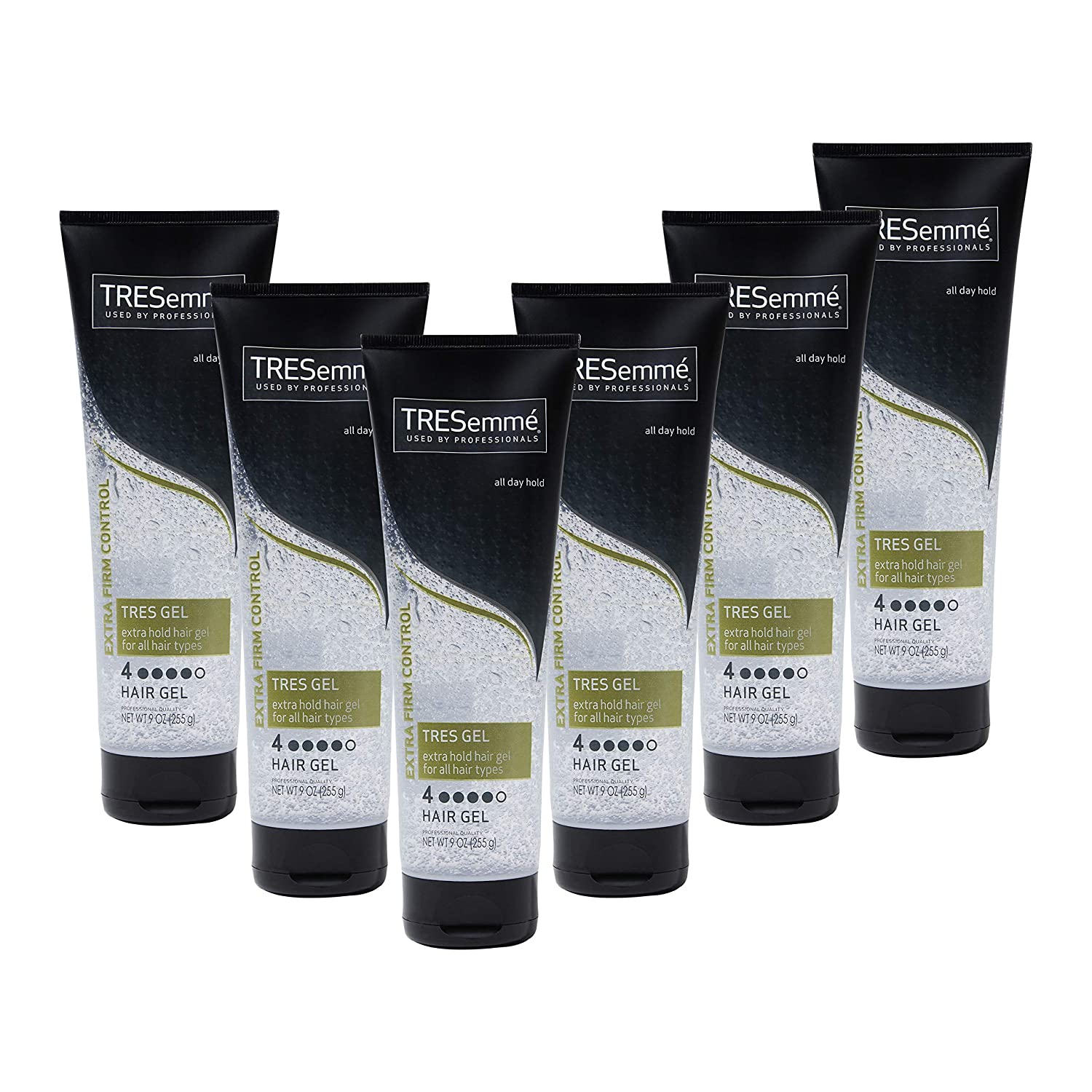 Amazon Com Tresemme Tres Two Hair Styling Gel Extra Hold Styling Extra Firm Control Hair Gel For All Hair Types 9 Oz Pack Of 6 Hair Styling Gels Beauty