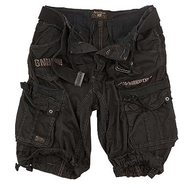 2e3fbeb86585 Geographical Norway Cargo Shorts Bermuda Shorts With Belt Shorts Hunter In  Bundle With UD Bandana  Amazon.co.uk  Clothing