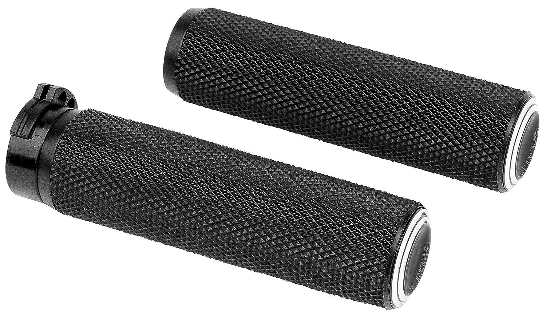 Arlen Ness Dual Ring Grips Cbl Blk 07-308 New