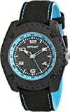 Sprout Men's ST/3007LBBK Light Blue Accented Black Organic Cotton Strap Watch