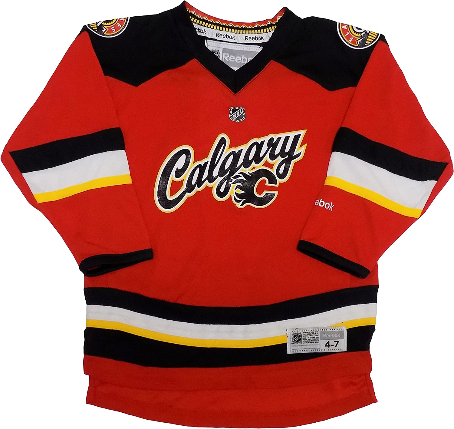 Amazon Com Outerstuff Calgary Flames Blank Red Kids 4 7 Alternate