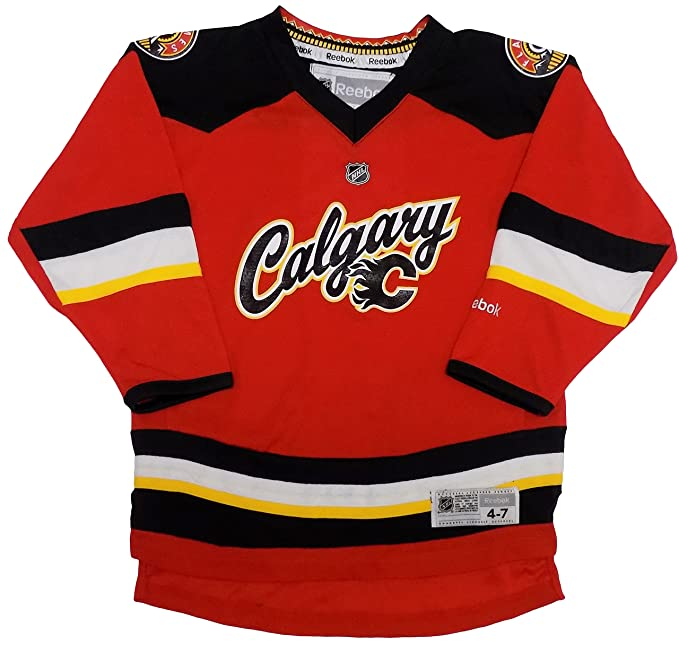 check out ee5b9 bdea3 Amazon.com: Outerstuff Calgary Flames Blank Red Kids 4-7 ...