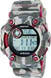 Armitron Sport Unisex 40/8229CPK Pink Accented Digital Chronograph Black and Grey Camouflage Resin Strap Watch