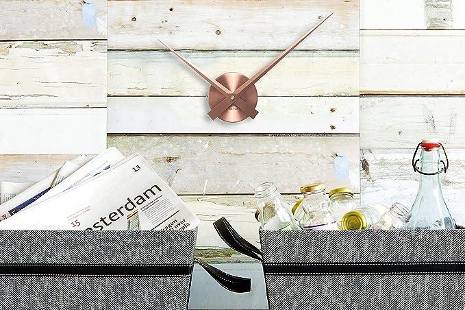 Argent Karlsson KA4348SI Horloge murale Aiguilles Little big time mini Grise M/étal aluminium D41 cm