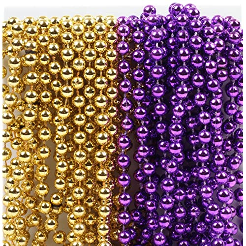andaz press mardi gras plastic bead necklaces duo for graduation party favors and table centerpiece decorations
