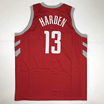 buy popular 271e2 01130 Unsigned James Harden Houston Red Custom Stitched Basketball ...