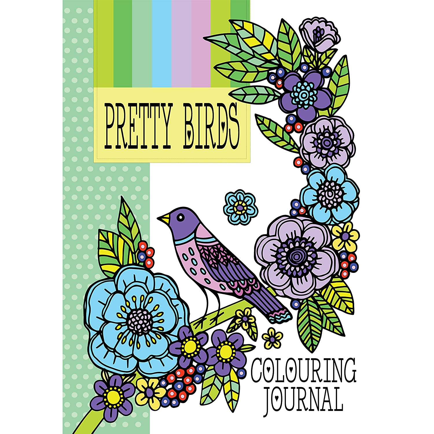 Pretty Birds: Adult Colouring Book: Colouring Journal & Notebook ...
