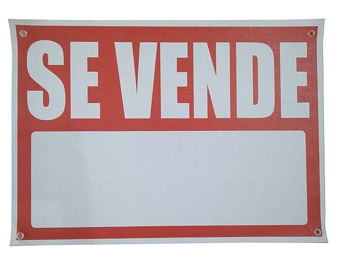 Cartel Se vende 70x50cm | Cartel Publicitario Se vende | Señal de Se vende | Cartel Oportunidad Se vende | Fabricado en Lona con 4 ojales en cada ...