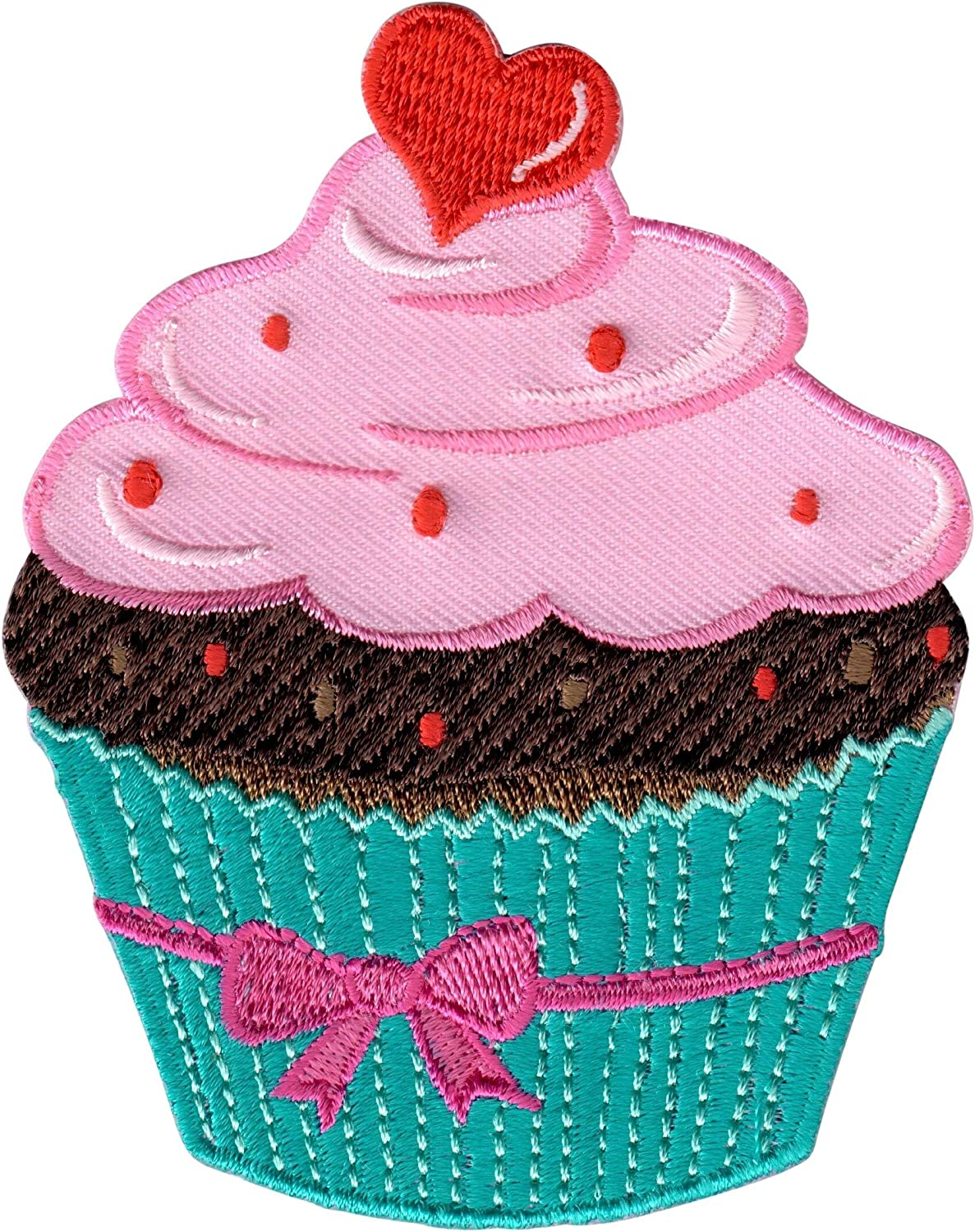 Cute Pretty Blue Cup Cake Embroidered Iron on Patch Free Shipping