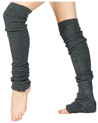53bb2981f8c Charcoal Sexy Pro Dancer Thigh High 28 Inch Leg Warmers by KD dance Stretch  Knit Ethical