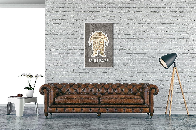 The Fifth Element MULTIPASS Word Art Print Poster by Artist Stephen Poon. Le Cinqui/ème /Él/ément 12 x 18