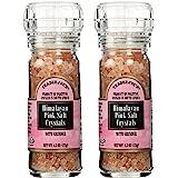 Trader Joe's Himalayan Pink Salt Crystals with Built in Grinder 4.5 Oz, (2-Pack)