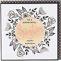 Rachel Ellen REZEB14 Zebra Crossing Sister Birthday Floral Greeting Card