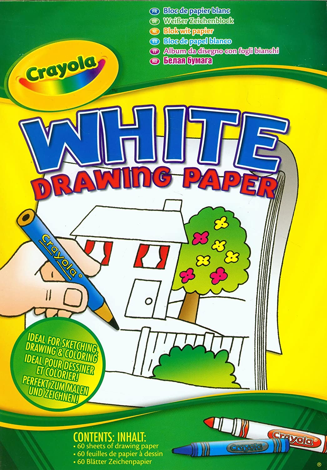 Crayola A4 White Drawing Paper 60 Sheets Amazoncouk Toys Games