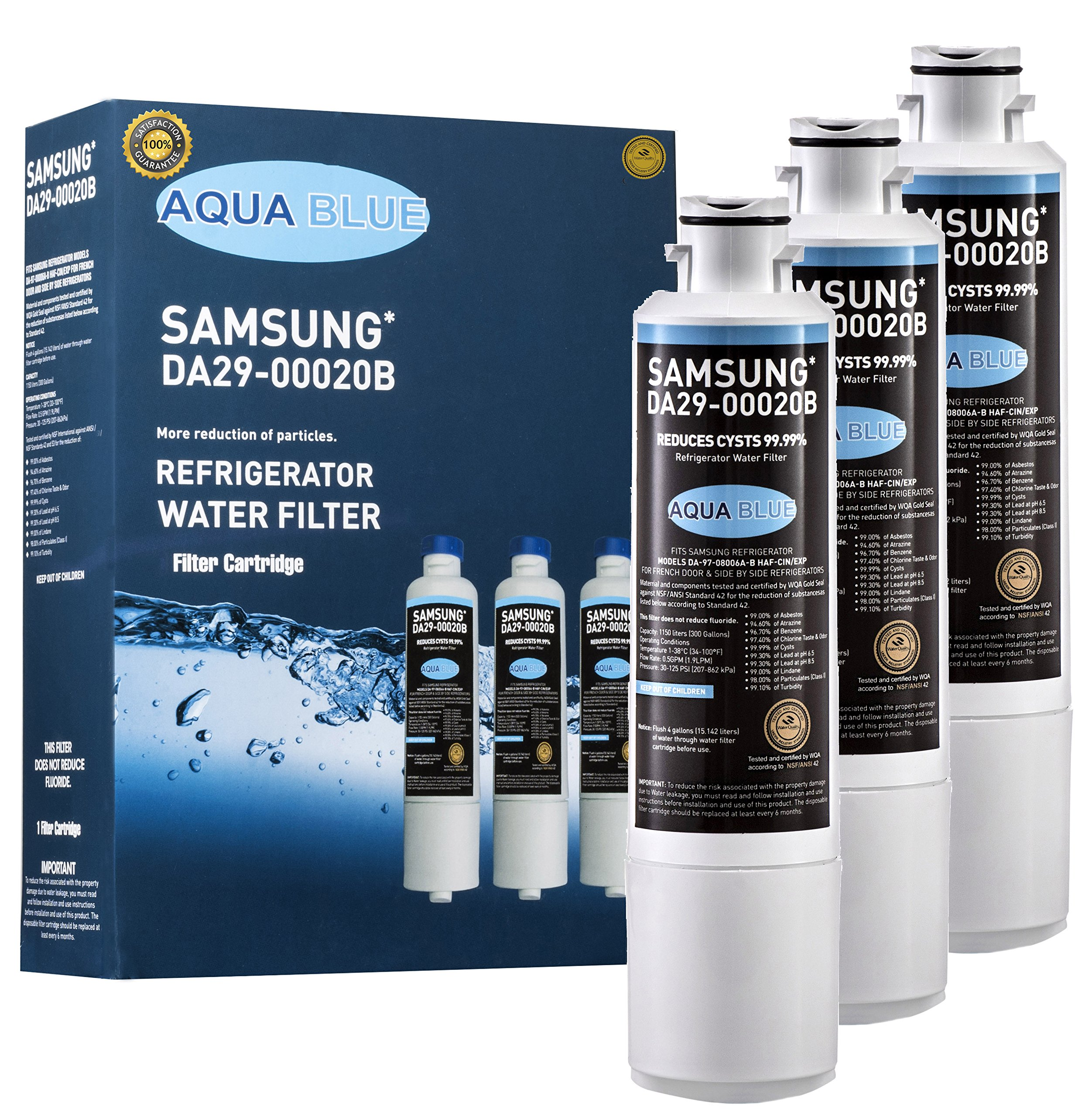 Samsung DA29-00020B Compatible Refrigerator Water Filter Nsf Certified 3-Pack (3 Pack)