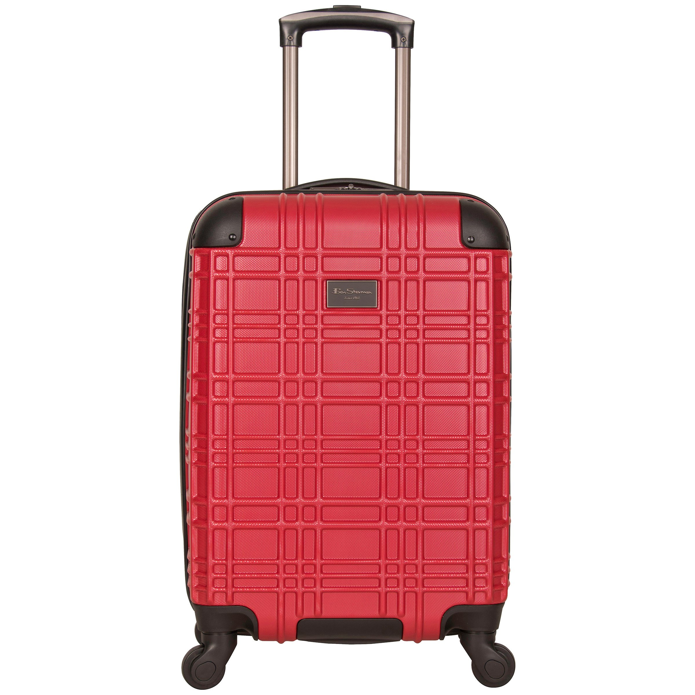 Ben Sherman Nottingham 20'' Pap (Abs with Polycarbonate Blend) Wheeled Upright Carry-on, Red