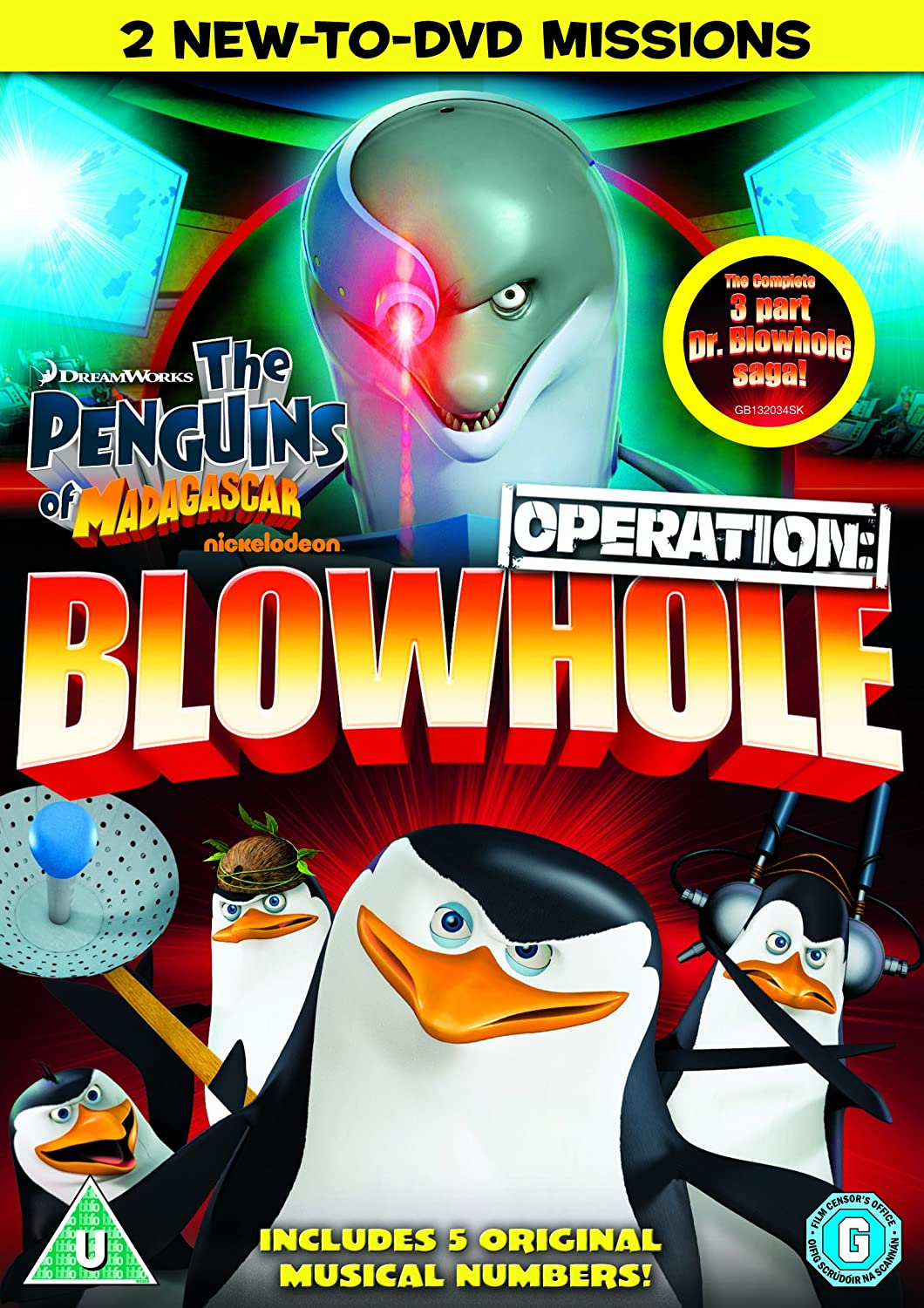 Penguins of Madagascar Operation Blowhole DVD Amazoncouk