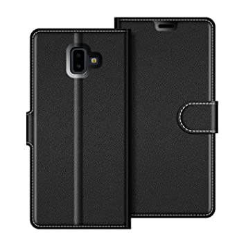 COODIO Funda Samsung Galaxy J6 Plus con Tapa, Funda Movil Samsung J6 Plus, Funda Libro Galaxy J6 Plus Carcasa Magnético Funda para Samsung Galaxy J6 ...