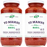 Keto Tomato Basil Pasta Sauce by Yo Mama's Foods - Pack of (2) - No Sugar Added, Low Carb, Low Sodium, Vegan, Gluten…