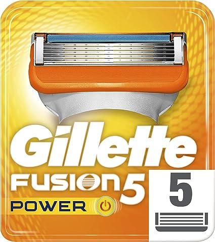 Gillette Fusion Power – Cuchillas de afeitar para hombres, 5 ...