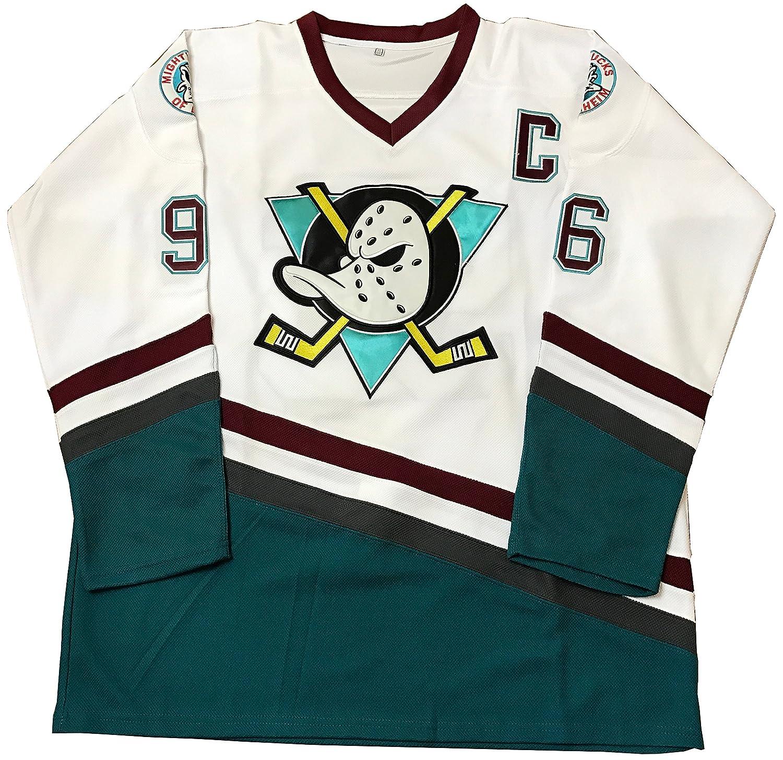 0616bf4d1 Kooy Charlie Conway  96 Mighty Ducks Movie Hockey White Jersey Team USA
