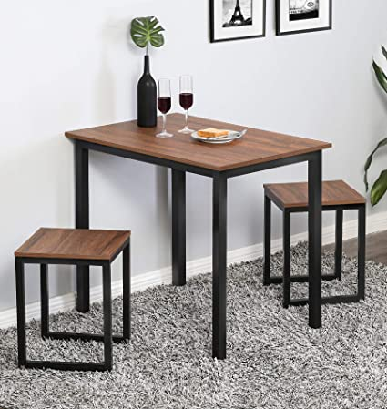 Amazon Com Homury 3 Piece Dining Set Small Dining Table Set For 2