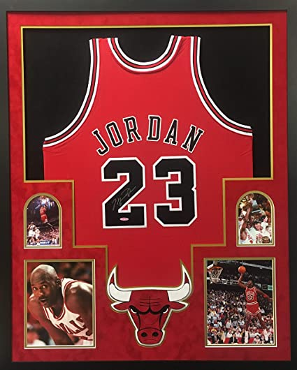 595a910ae5ffd Michael Jordan Chicago Bulls Signed Autograph Authentic Mitchell ...