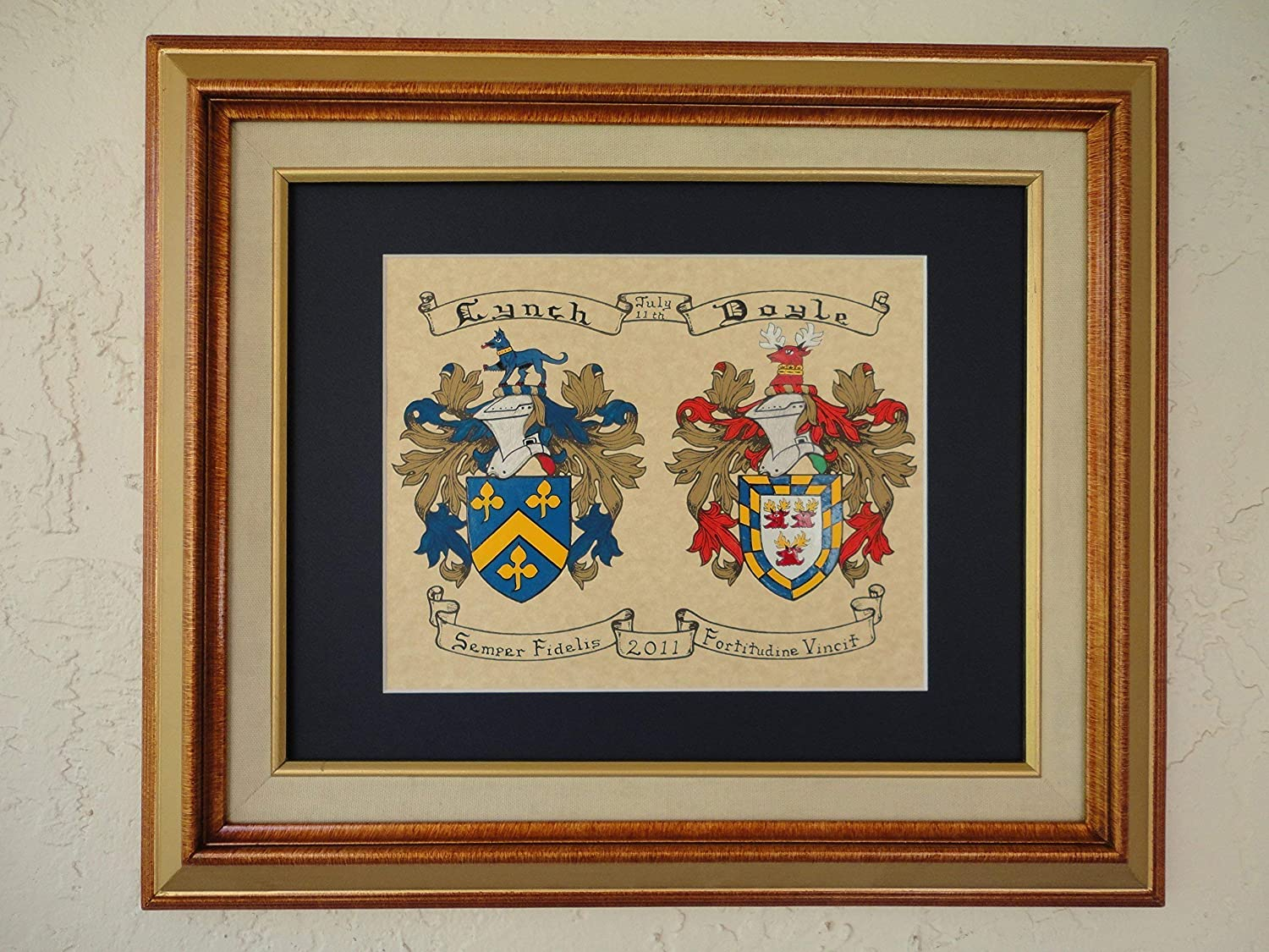 Double Coat of Arms. Hand-Painted