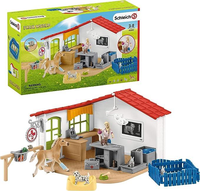 Schleich- Playset Cabinet vétérinaire avec Anima...
