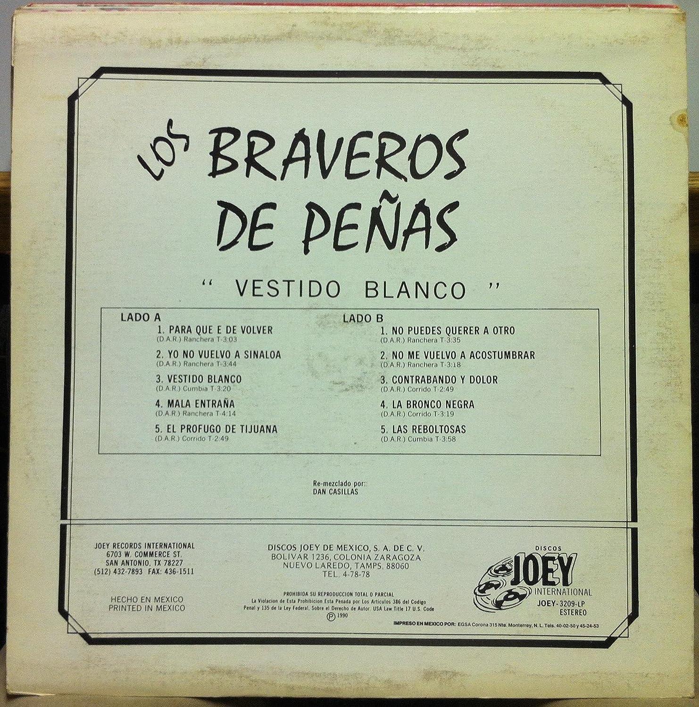 Los Braveros De Penas - LOS BRAVEROS DE PENAS VESTIDO BLANCO vinyl record - Amazon.com Music