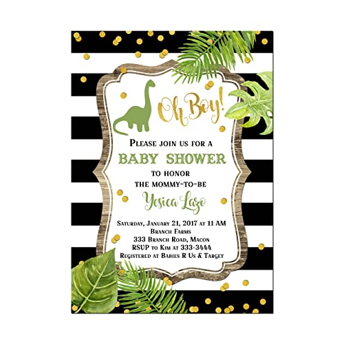 amazon com modern dinosaur baby shower invitations base price is