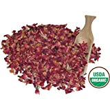 Alive Herbals Premium Food/Culinary Grade A, Organic Dried Red Rose Buds And Petals 4 OZ. Bag